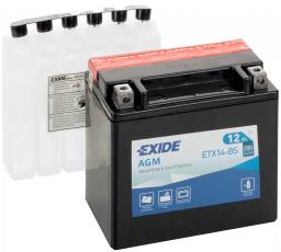 Exide YTX14H-BS / ETX14-BS / YTX14-BS Dry / BMW 61.21-7 705 652 / MB A 211 541 00 01
